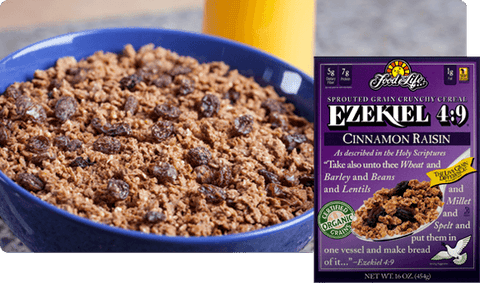 Ezekiel Sprouted Whole Grain Cereal Cinnamon & Raisin 454g