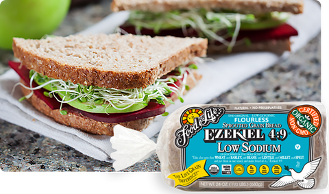 Organic Ezekiel Low Sodium Sprouted Grain Bread 680g