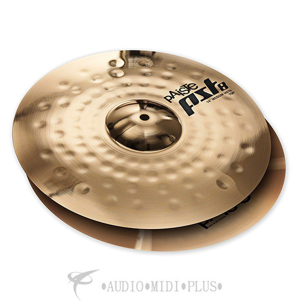 "Paiste 14"" 8 Reflector Medium Hats Cymbal -1803714-U"