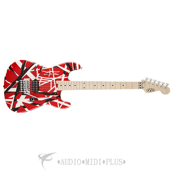 Eddie Van Halen EVH Striped Series Red with Black Stripes Electric Guitar – 5107902503
