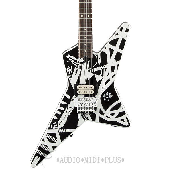 Eddie Van Halen EVH Striped Series Star Electric Guitar Black and White - 5107902536