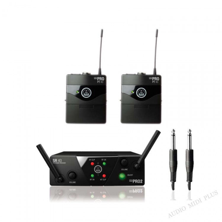 AKG WMS40 MINI 2 dual instrument UHF wireless set US45A