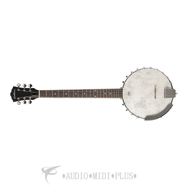 Washburn Americana 6 String Banjo Open Black - B6-U