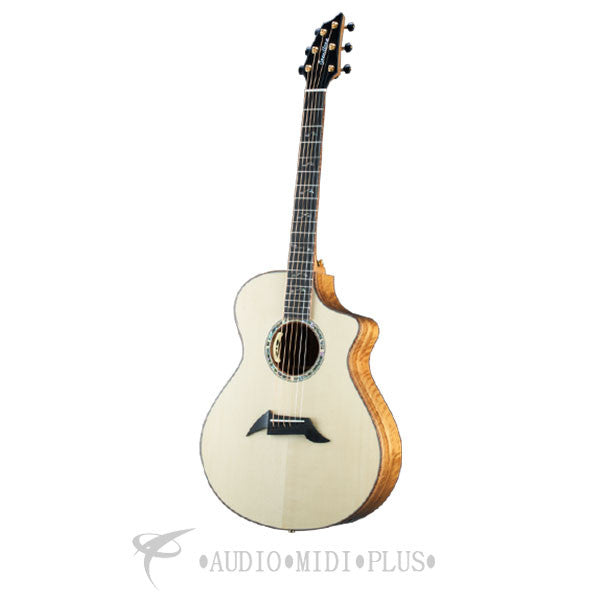 Breedlove Masterclass Concert CE Sitka Spruce Myrtlewood Acoustic Guitar - MCCN01CESSMY - 875934006417