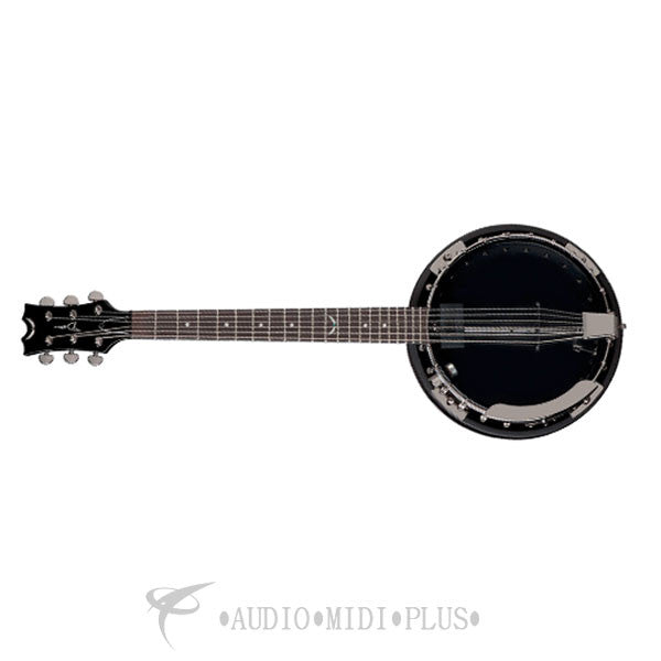 Dean Backwoods 6 Banjo With Pickup  Black Chrome - BW6EBC-U