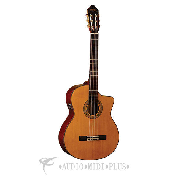 Washburn Classical Acoustic Electric Guitar Natural - C64SCE-U - 801128006574