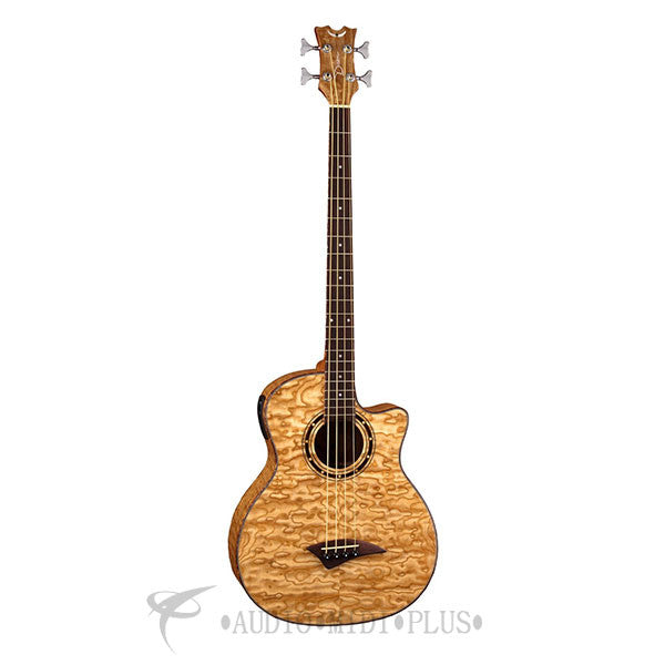 Dean Exotica Quilted Ash 4 Strings Acoustic Electric Bass Natural - EQABAGN-U