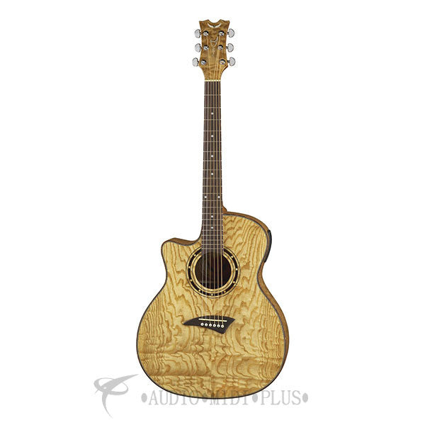 Dean Exotica Quilt ASH Acoustic Electric Left Handed Guitar Gloss Natural - EQALGN-U