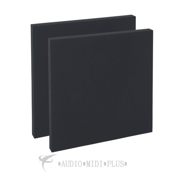 "Geerfab Acoustics Roomzorbers Prozorber Black 24x24 2"" Thick Pair Acoustical Treatment Panel - PZ24BLACK2"