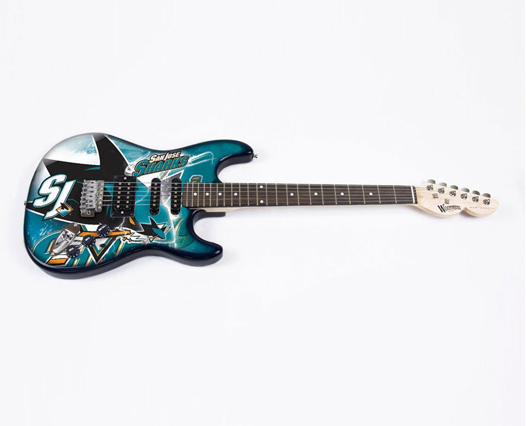 Woodrow San Jose Sharks Northender Electric Guitar