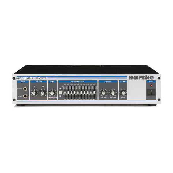 Hartke HA2500 - 250 watt Bass Head Bass Amplifier - HA2500 - 809164004967