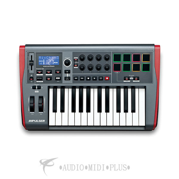 Novation Impulse 25 Keys USB Midi Controller Keyboard - IMPULSE-25-U - 815301000402