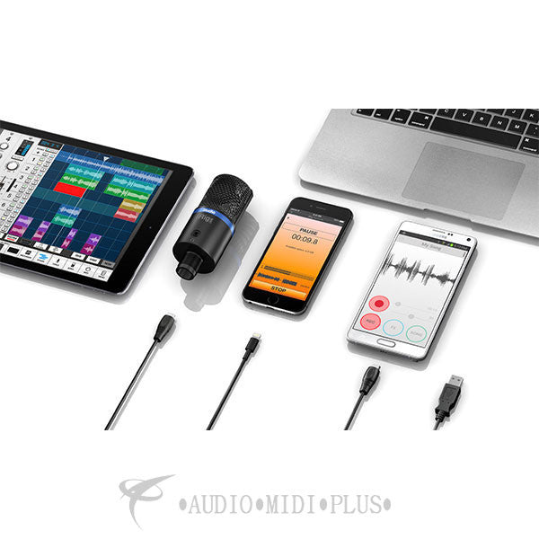 IK Multimedia iRig Microphone Studio Digital Interface for iOS Silver - MICSTDSIL-IN - 888680088729