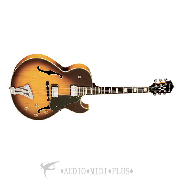 Washburn Jazz Florentine Cutaway Electric Guitar Tobacco Sunburst With Case - J3TSK-U - 801128014241