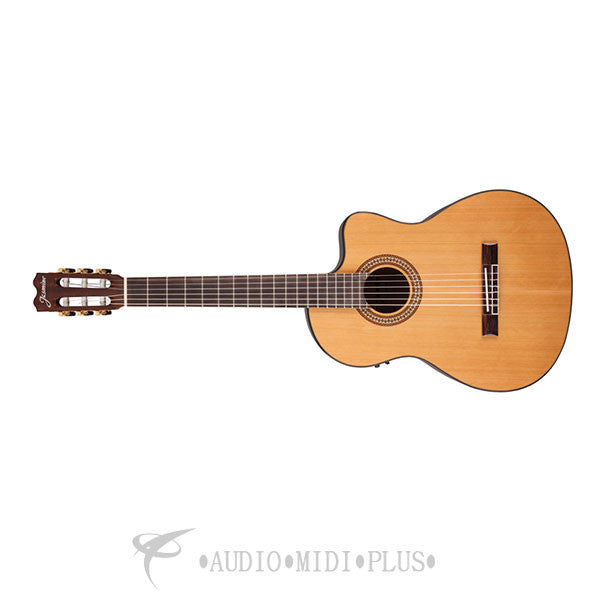 Jasmine Classical Cutaway Acoustic Electric Guitar Natural - JC27CE-NAT-U - 00736021363953