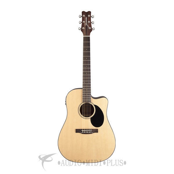 Jasmine Dreadnought Acoustic Electric Guitar Natural - JD36CE-NAT-U - 00736021363977