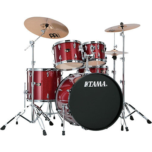 Tama Imperialstar 5-Piece Drum Set with Black Nickel Hardware - Candy Apple Mist