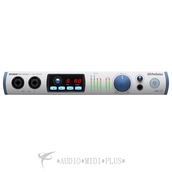 PreSonus Studio 192 Mobile 22 x 26 USB 3.0 Audio Interface and Studio Command Center - 157615 - 673454003332