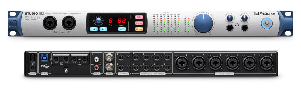 PreSonus Studio 192 26 x 32 USB 3.0 Audio Interface and Studio Command Center - STUDIO192 - 673454003288