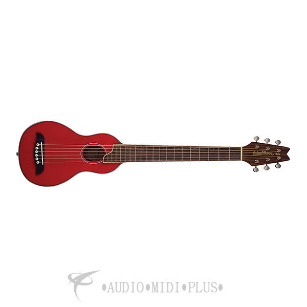 Washburn Rover Travel Acoustic Guitar Pack Trans Red With ROGC Case  - RO10TR-U - 801128010816