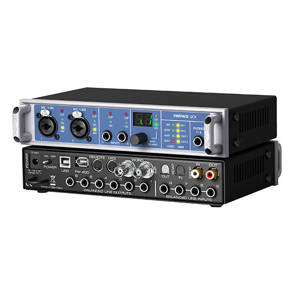 RME Fireface UCX 18-channel Hybrid USB 2.0/USB 3 Audio Interface - UCX - 426012336282