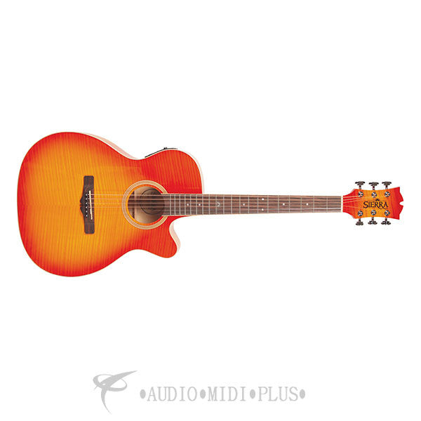 Sierra Sunrise Auditorium Acoustic Electric Guitar Honey Burst - SA28CEFHB-U