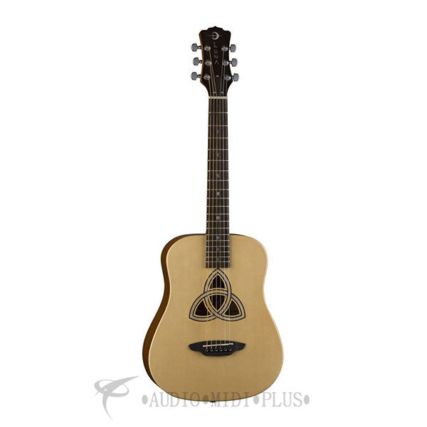 Luna Trinity Parlor Solid Spruce Top Acoustic ELectric Guitar - SAFTRI-U