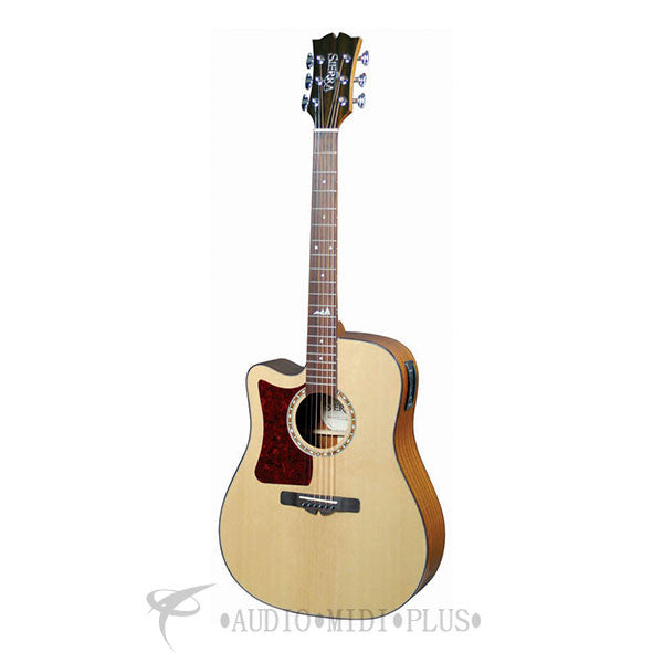 Sierra Alpine Dreadnought Cutaway Acoustic Electric Guitar Gloss Natural (Left Handed) - SD35LCE-U