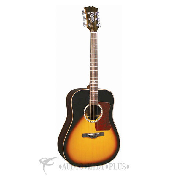 Sierra Sequoia Dreadnought Acoustic Guitar Vinatge Sunburst Gloss - SDS55TS-U
