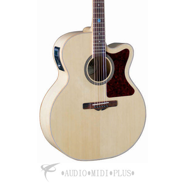 Sierra Tahoe Jumbo Cutaway Acoustic Electric Guitar Natural - SJ88CE-U