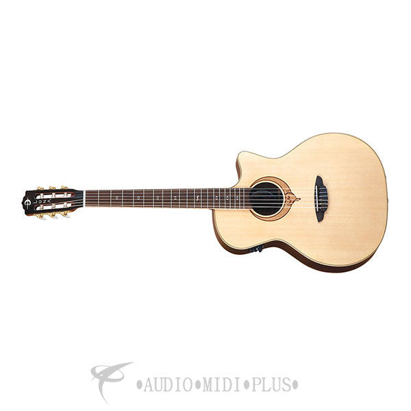 Luna Guitar Heartsong Nylon Acoustic Electric Satin Natural - SONGNYL-U