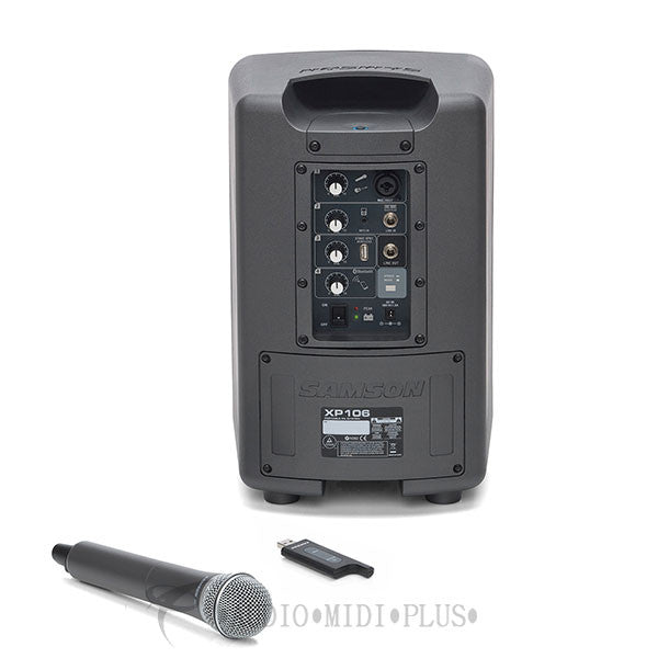Samson Expedition XP106w Rechargeable Portable PA with Handheld Wireless System and Bluetooth - XP106W - 809164015970