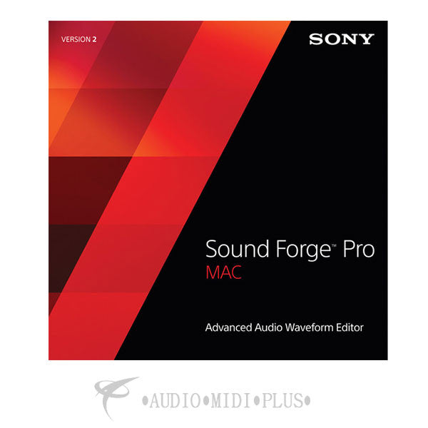 Sony sound forge pro for mac version 2.5 retail edition - SFM2500