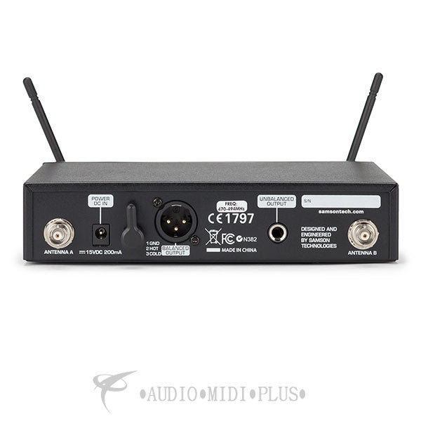 Samson Concert 99 Guitar Frequency Agile UHF Wireless System - SWC99BGT-D - 809164211167