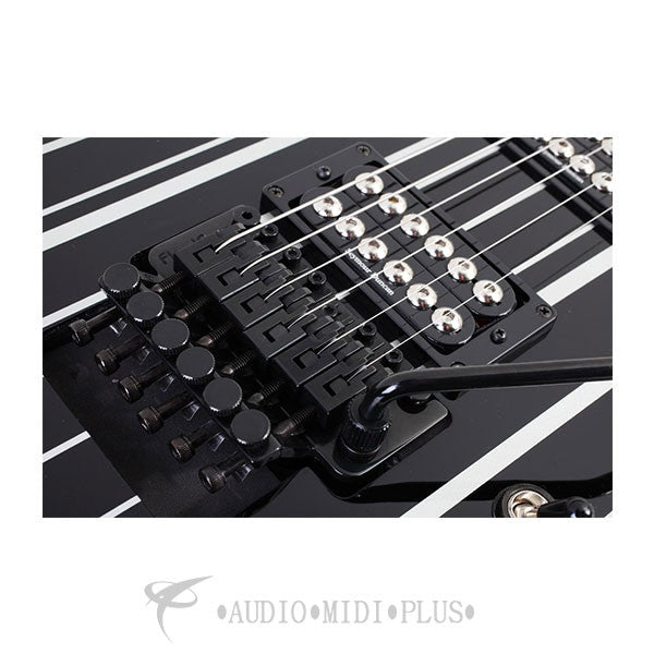 Schecter Synyster Custom Ebony Fretboard Electric Guitar Gloss Black - 29 - 839212007763