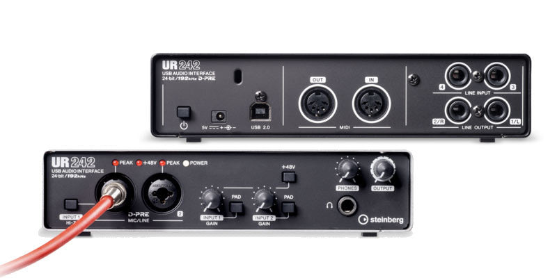 Steinberg UR242 USB Audio Interface with IOS Compatibility - UR242 - 086792997483