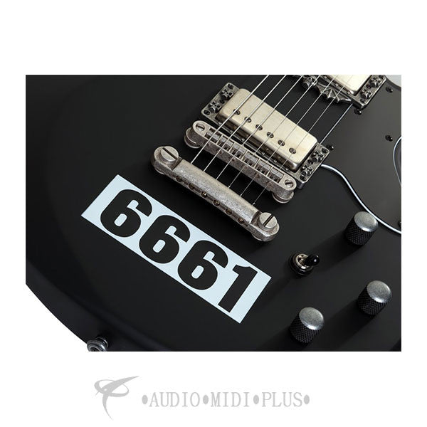 Schecter Zacky Vengeance 6661 Rosewood Fretboard Electric Guitar Satin Black - 207 - 81544701974