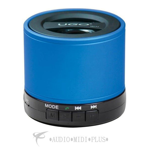 Blue Portable Bluetooth Speaker with SD Card Playback and Radio