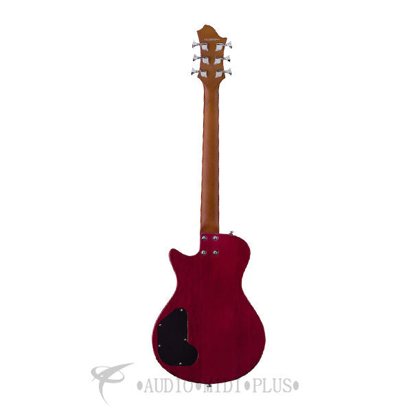 Hagstrom Ultra Swede ESN Electric Guitar Wild Cherry Transparent - ULSWESN-WCT-U