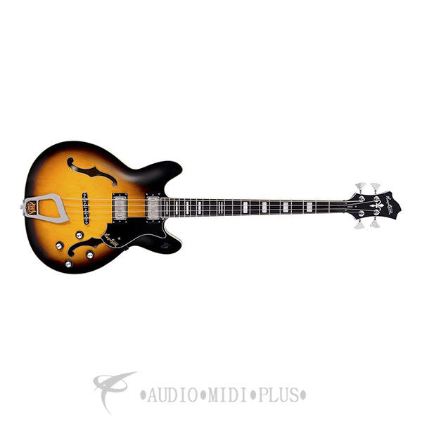 Hagstrom Viking Electric Bass Guitar Tobacco Sunburst - VIKB-TSB-U