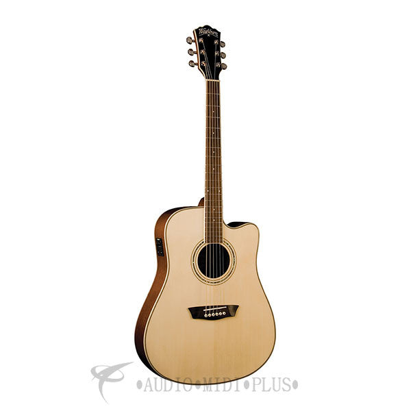 Washburn Comfort Series Dreadnought Acoustic Electric Natural - WCD18CE-U - 801128805979