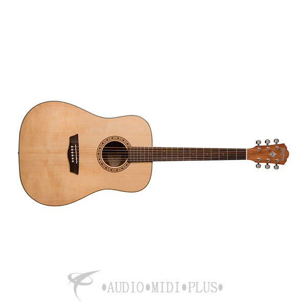 Washburn Harvest Series Dreadnought Acoustic Guitar Natural - WD7S-U