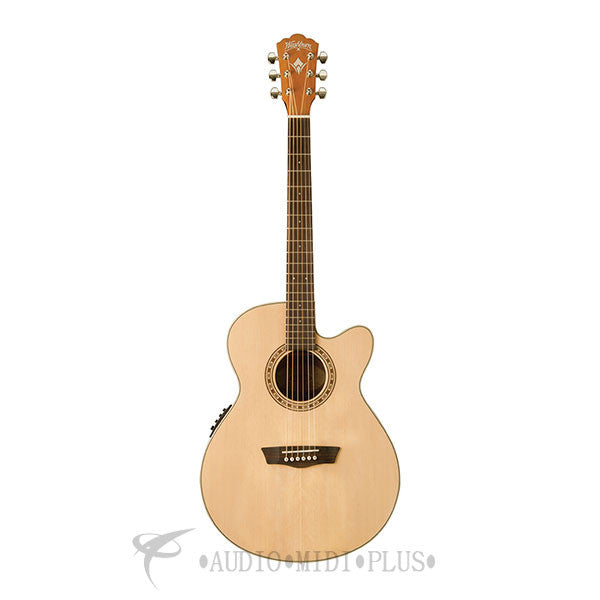 Washburn Grand Auditorium Solid Top Acoustic Electric Guitar w/ EQ4T-WG7SCE-U - 801128019581