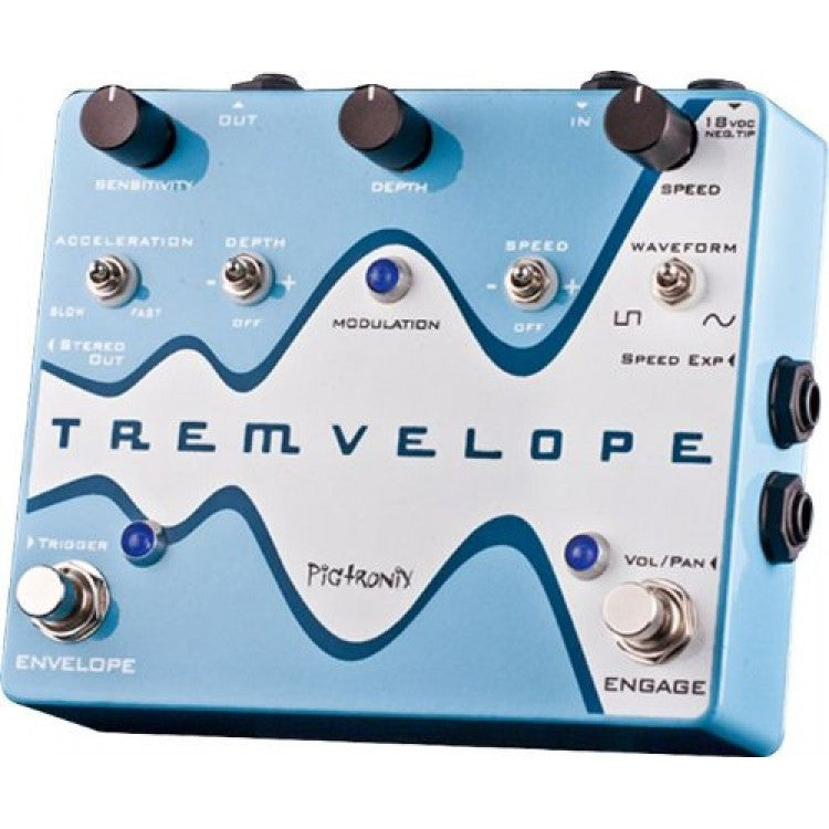 Pigtronix Tremvelope Guitar Tremolo Effect Pedal
