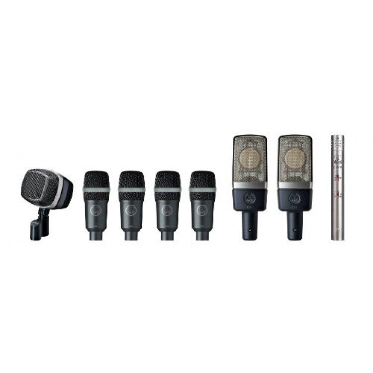 AKG Pro Audio Drumset Premium Reference Drum Microphone Set