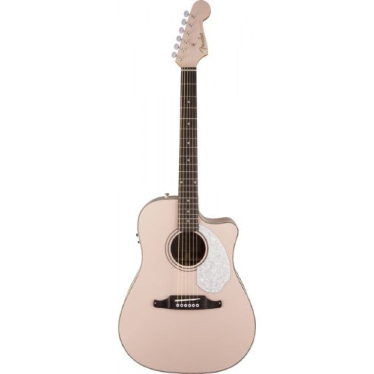 Fender Sonoran SCE, Shell Pink Acoustic-Electric Guitar