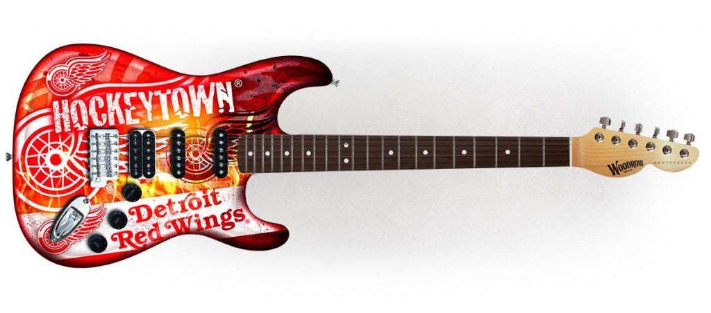 Woodrow Detroit Red Wings Northender Electric Guitar