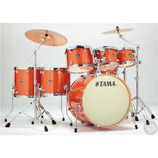 Tama Superstar Classic Custom 7-Piece Drumset - Orange Sparkle