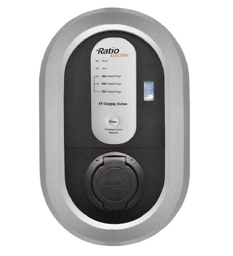 <b>Ratio Home Box - 7,4kW - 32A/1-fas - Type 1 & Type 2</b>