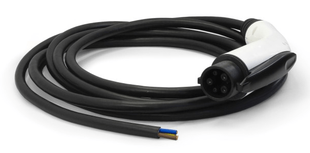 ITT CANNON Pigtail ladekabel - 32A/1-fase - Type 1